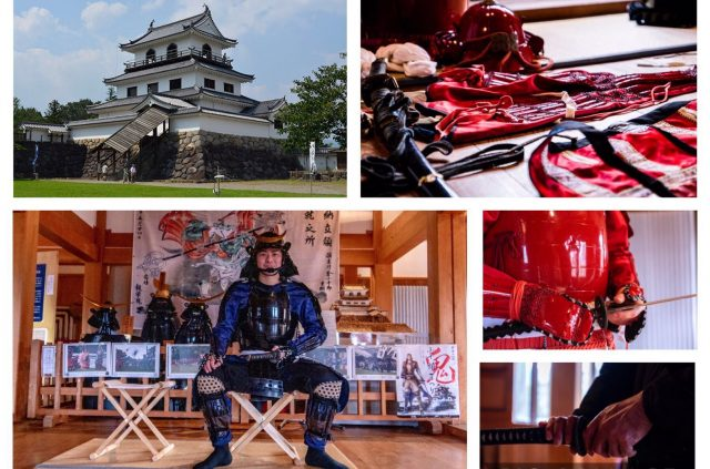 Won't you try wearing real armor at Shiroishi Castle?