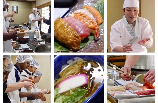 Learn how to make authentic hand-pressed sushi from a professional chef, and then eat Shiroishi U-men together!